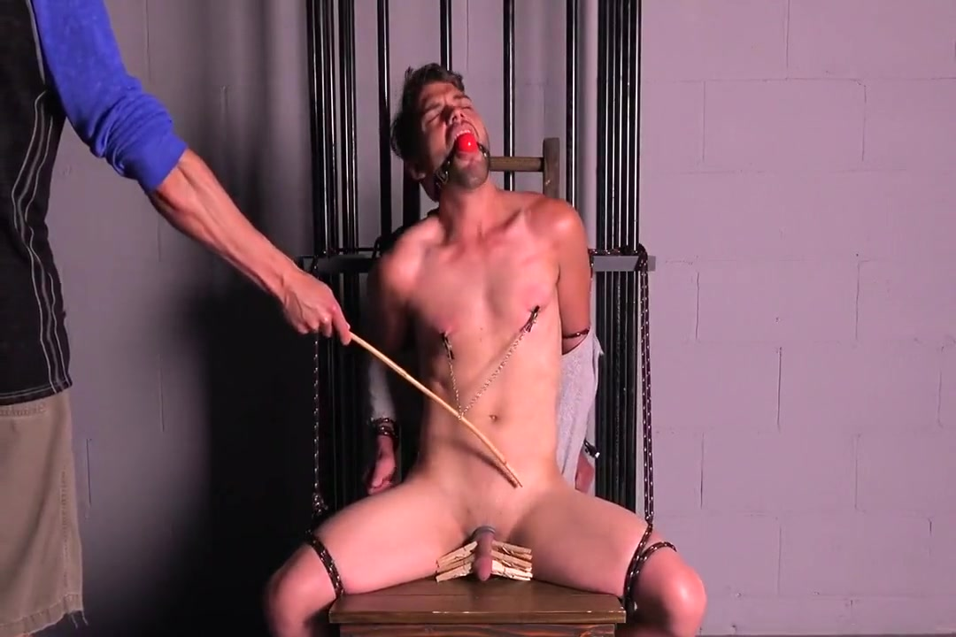 Straight Muscle Guy Tortured & Edged Crack anal