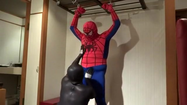 Spidey got caught by Black-spidey milf rimming young man tubes
