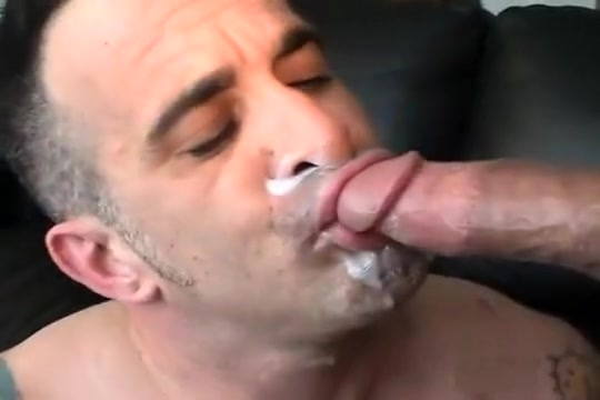 Tony gags on cock Rough tranny gangbang whore