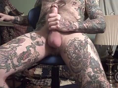 Rock Hard Jack Off of heavily tattooed guy. Olga farmaki naked photos
