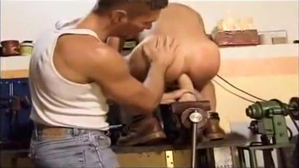 Sweaty Mechanics Mature blonde big natural tits