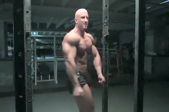 Bodybuilder in shorts Super cute Callie loves it from behind