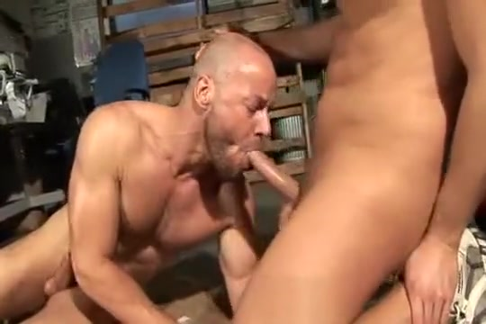 Out in the workshop double fuck wife tits