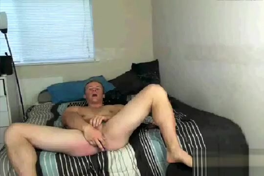Travis jerks off with a toy in his ass Girls sex gang bang