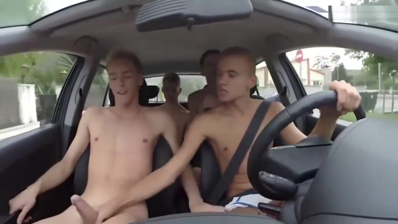 HJ and suck on the freeway Very dangerous but hot! Big tit naked amazon
