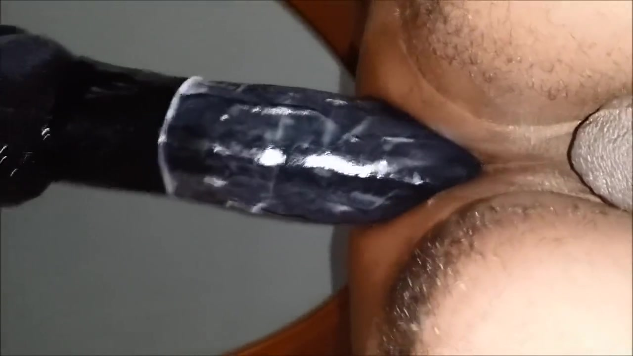 Black man rides a thick dildo The emperor s new groove pregnant porn