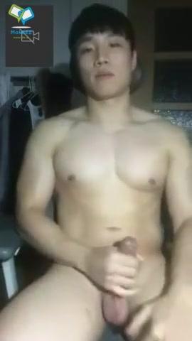 korean Pornstar naked blowjob cock and facial