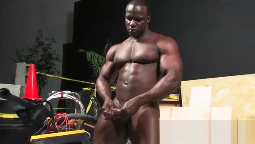 African God! Muscle Worship and Cumshot! Give me your milk, GOD! Butt korean lick penis and squirt