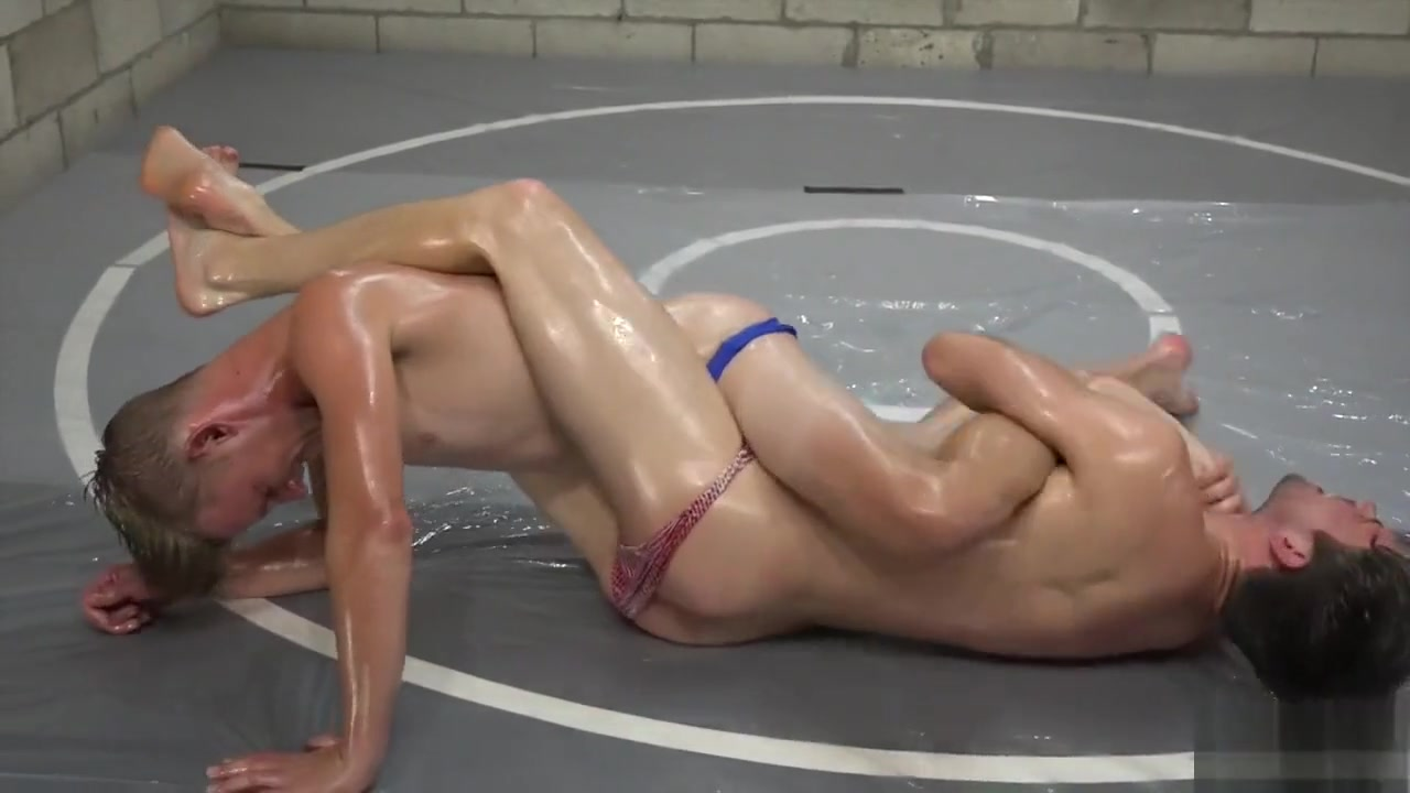 Axel vs Skip Vance oil match Naruto deep throat
