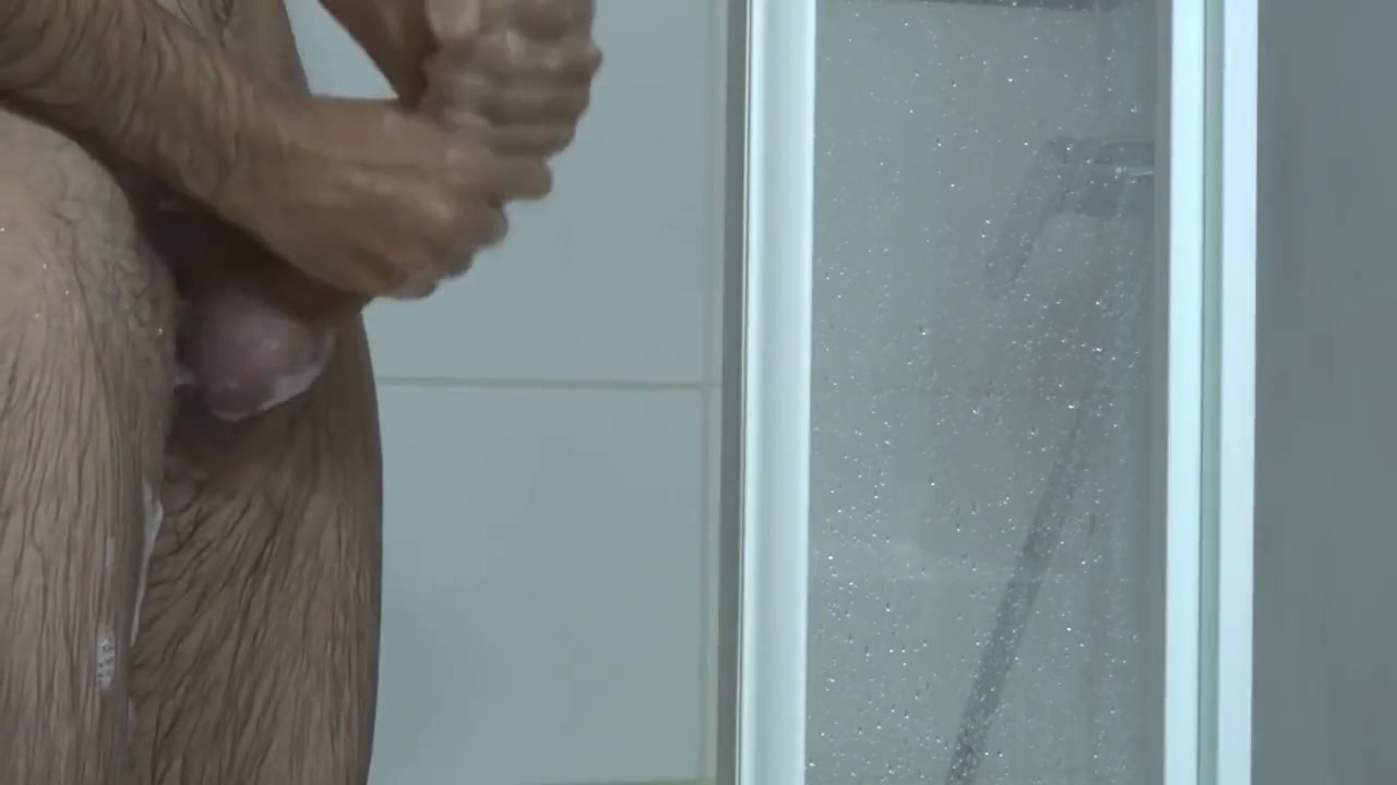 Taking care of my dick under the shower Jack off on camera