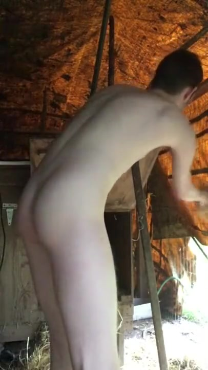 FARM BOY NAKED IN CHICKEN COOP Sexy women in leather pants