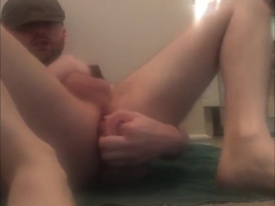 Fucking my tight hole with a fat 8 inch cock. *CUM* Penis covered ice cream naked