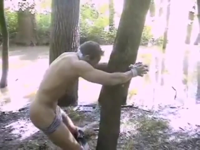 BG Tied to a tree and exposed. videos for bent over compilation your