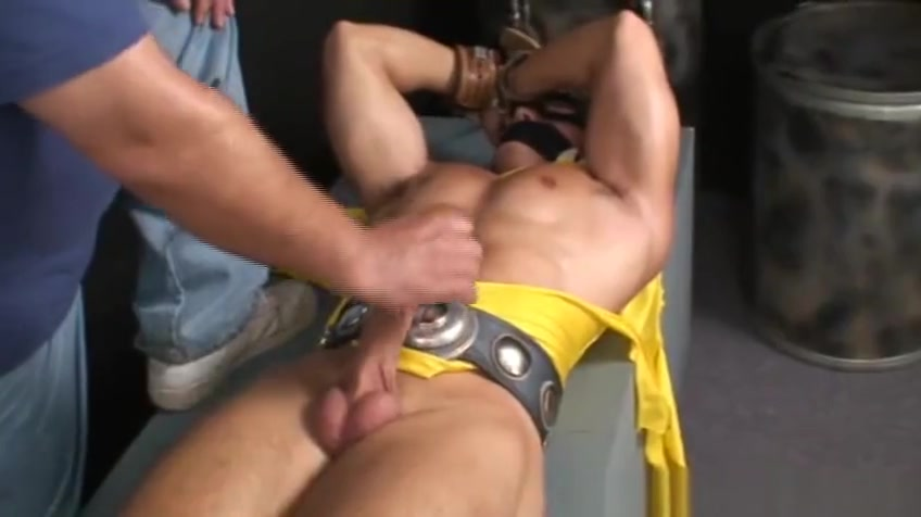 Bound and gagged super hero jerked off. Reiko blowjob game