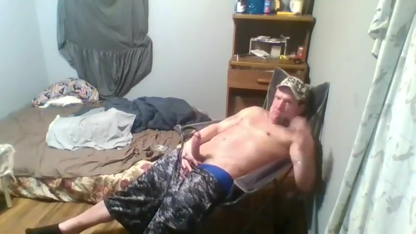 12 min. of me sagging & jerking my massive dick until I cum. Watching wife lick friends ass