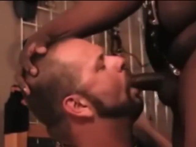 Black Leather White Jockstrap Chubs 2 on Wrestling Bearhugs