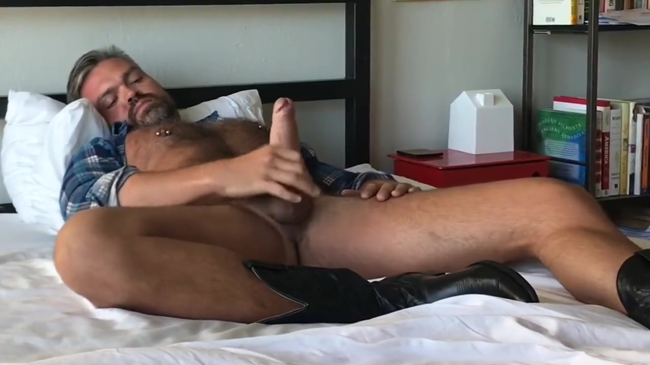 Cowboy Jerk Off - Wearing my Boots & Flannel blondes on blacks porn