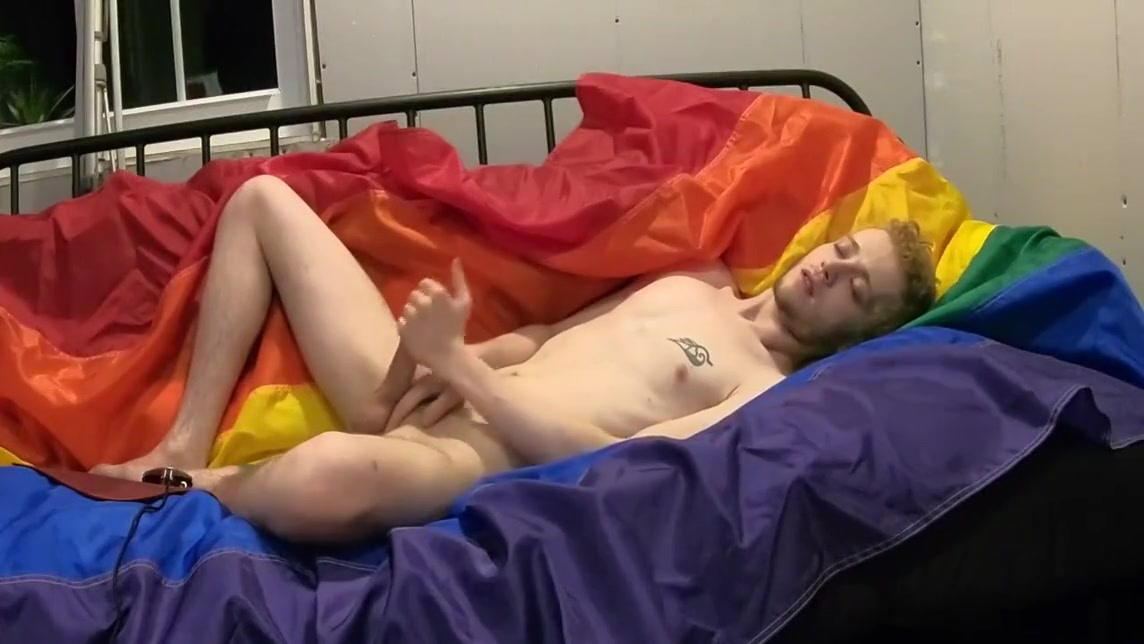 18 year old virgin SELF-FACIAL! on pride flag (+moaning) free gay itouch sites
