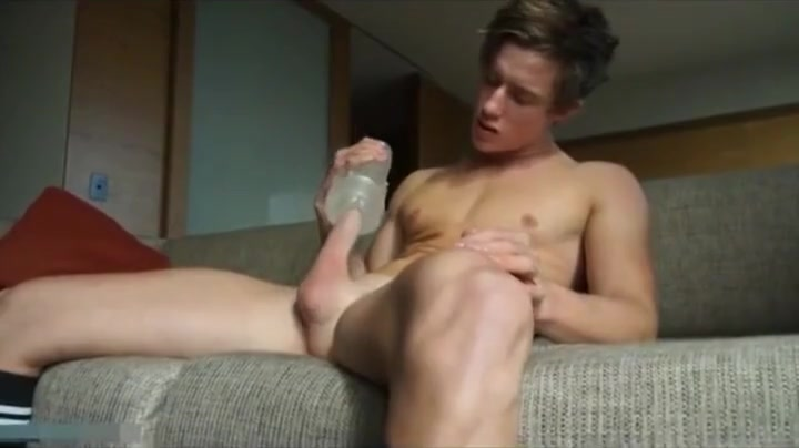Handsome boy playing with his piston Naked Massage Milf