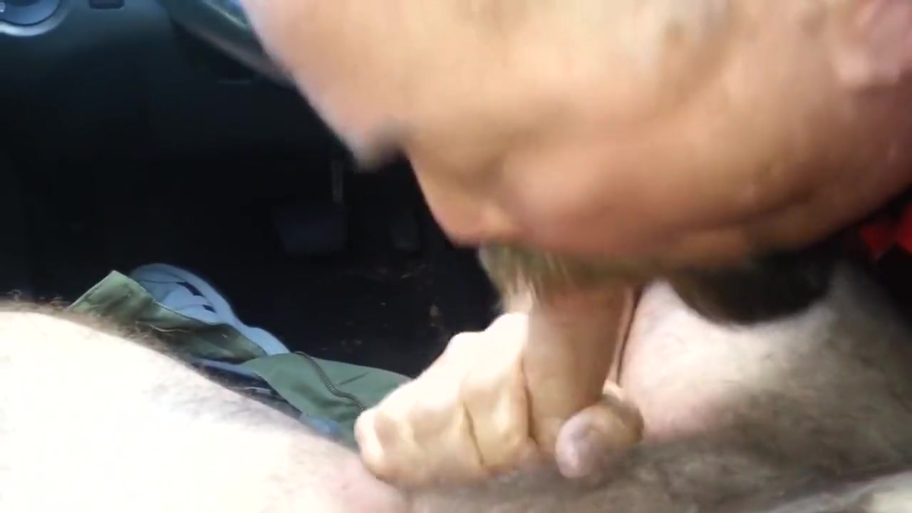 DADDY BEAR CAR HEAD Suspended redhead sub dominated with strapon