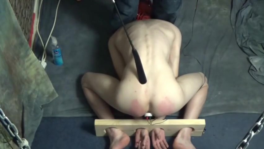 Hooded twink in the stocks with electro butt plug Best mature fuck tube