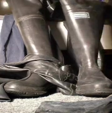 nlboots - could not get closer to bata waders, blue rubber Amature black girl fucking in public