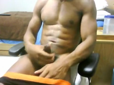 After Workout Stroking sexy girl open cloth