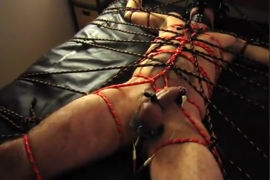 Roped Spreadeagle With Electro HFO Malaysian girl and boy sex