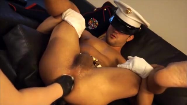 US Marine Hole Lesbians Playing With A Dildo