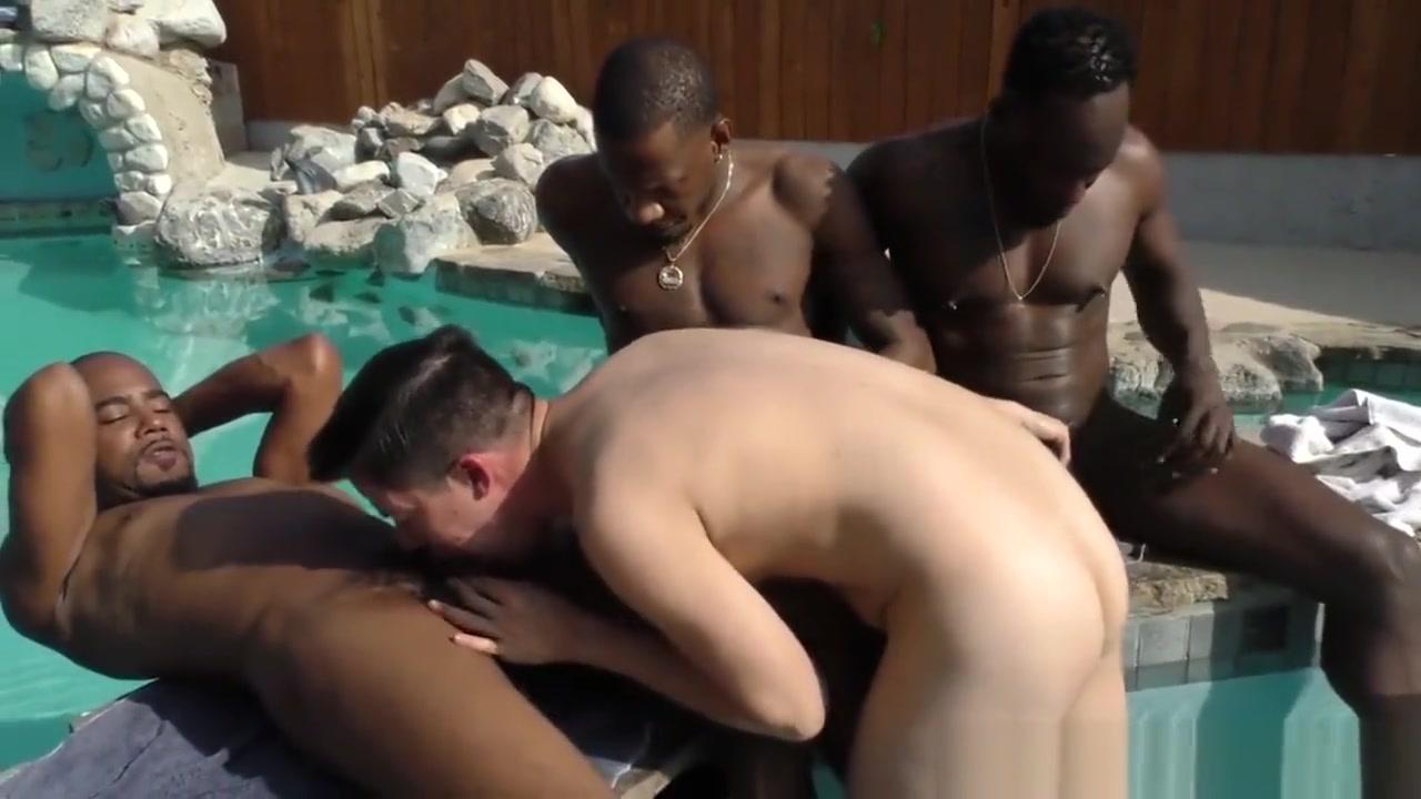 Interracial gay gangbang and facials ruined orgasm blowjob cumshot