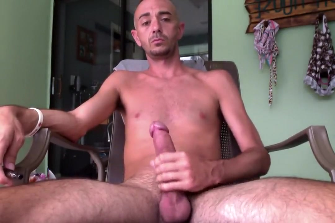 Stroking a load out on the patio Sperm in pussy movies