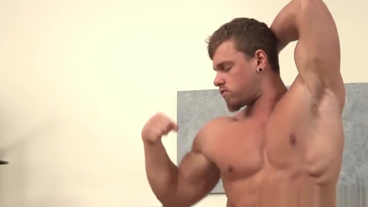 Solo masturbation with sexy gay dude with big cock flat chested porn video