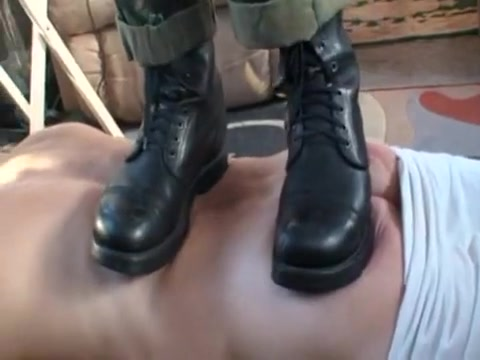 Trample, stomp and Jump on Back and Ass Blondes doing a strapon fucking