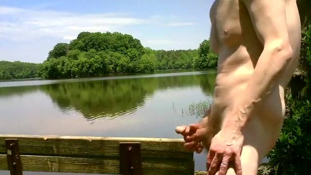 Vibrator Up My Ass at the Lake Buxom busty hard
