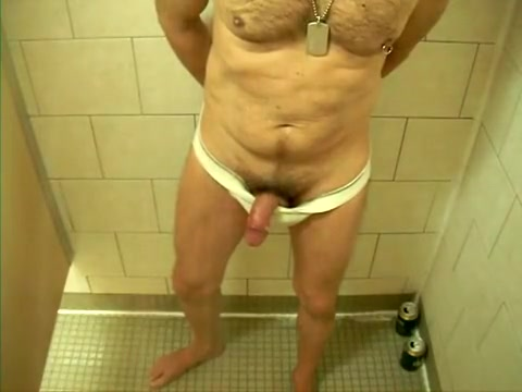 gym shower: jerk, cum and piss Creampie in the most beautiful pussy