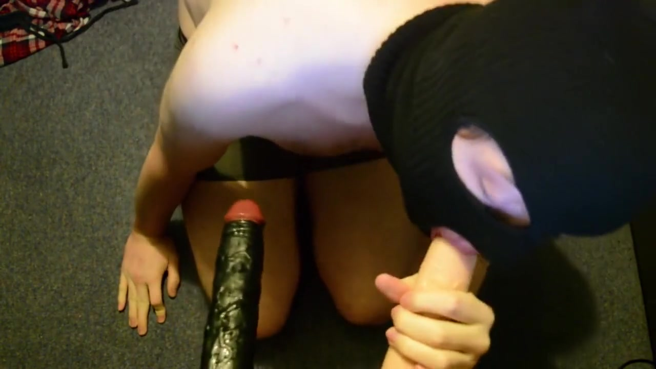 Dick Malone gives two dicks a sucking and deepthroat womanly art of breast