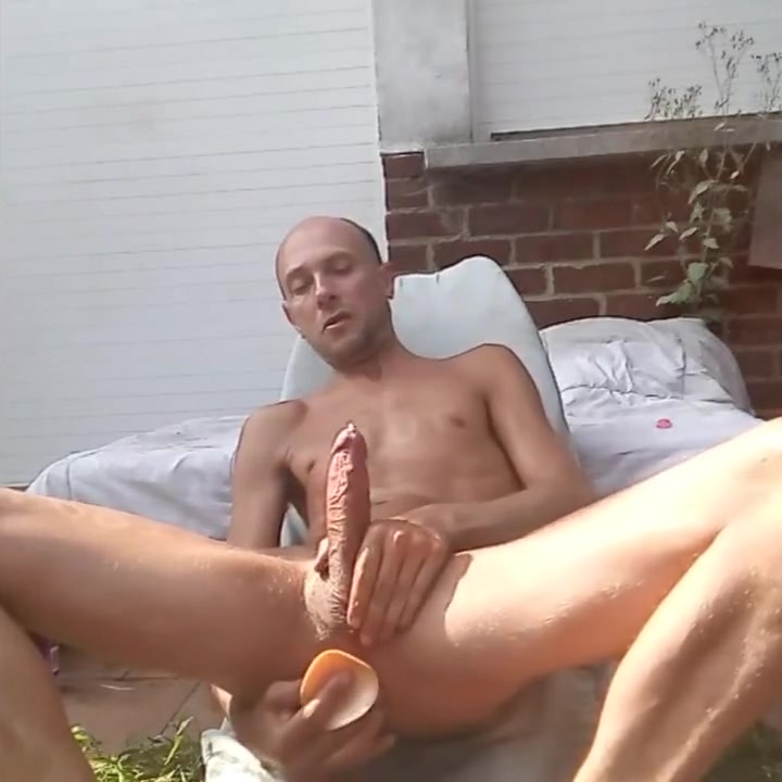 Xavier Desmadryl playing with a dildo deep inside my male pussy Cheating latina wife porn