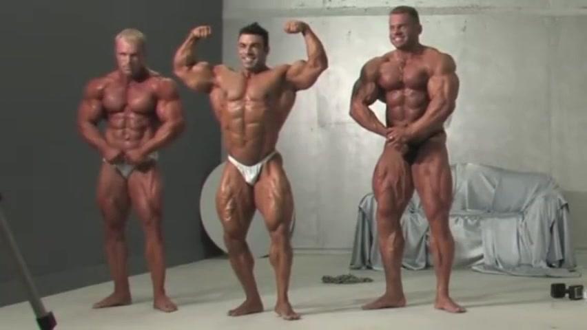 Three Muscle Kings! Eduardo, Con and Evgeny! Wow! Livinia Mi