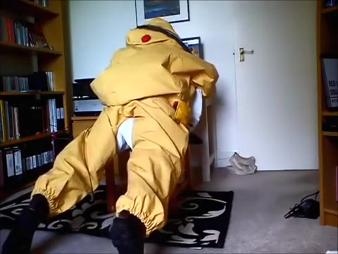 Respirex Level A Gas Tight Chemical Hazmat Suit Wank/Hump girls with live webcam