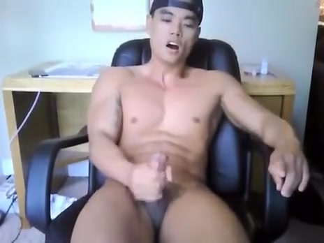 Cute Asian Boy Beating His Meat Chubby wife watches husband fuck