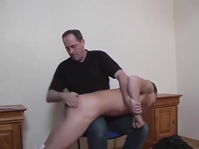 1227 Hot Guy Spanked Chubby mature butt