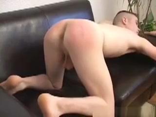 Brett Spanked see through pants fetish