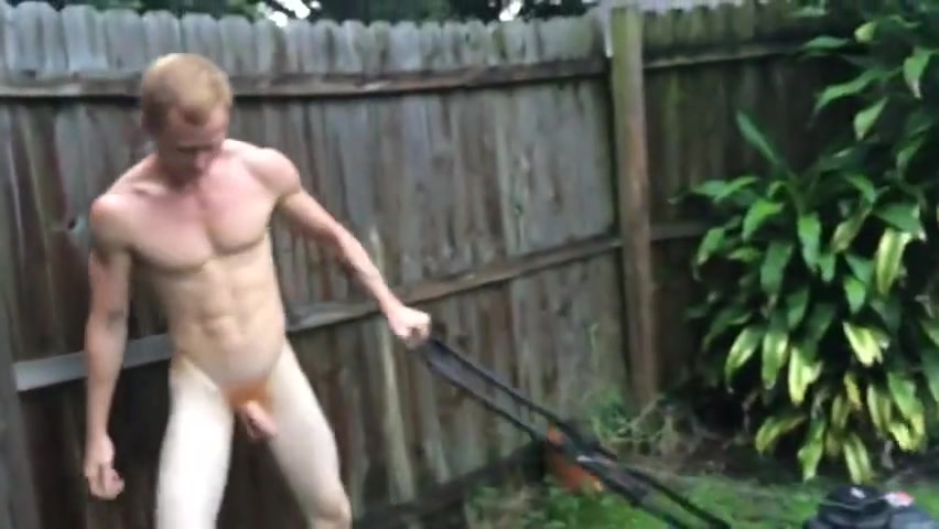 Ginger Mowing Yard Fucking sexy av beauty