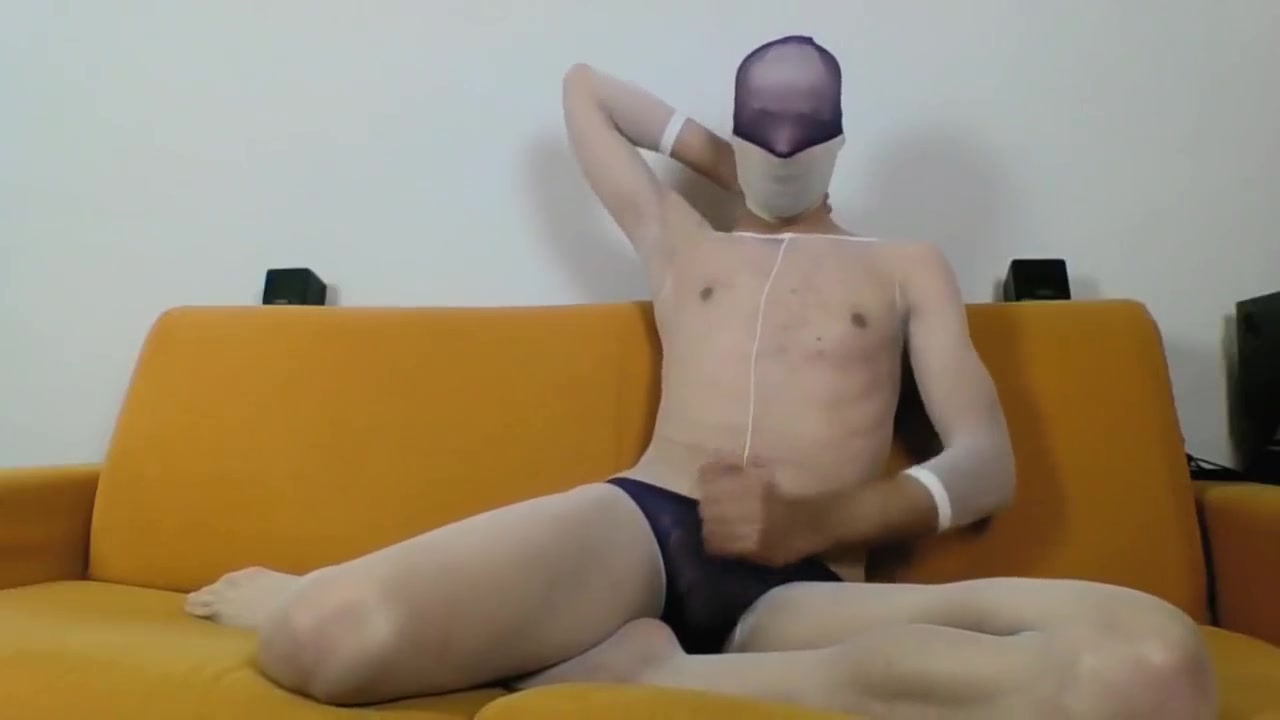 YOUNG GUY IN WHITE BODYSTOCKING MASTURBATE AND CUM ON FEET tinkerbell and friends porn