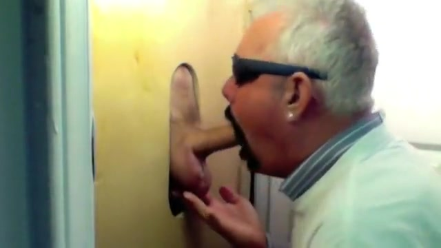 Gloryhole New Visitor Big Cock See through hairy pussy