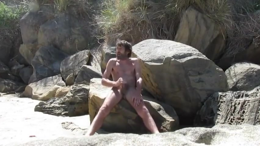 Fapping on the beach Hemorrhoid outside the anus