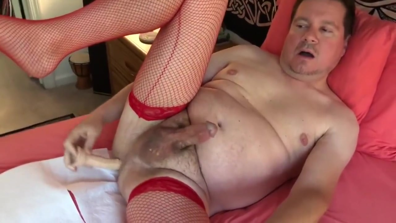 Red Fishnets with a Dildo in my Ass Mature latina fat ass videos tgp