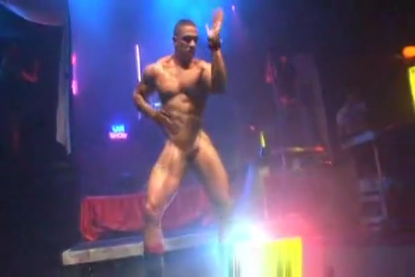 Beefy Ebony Stripper In Night Club Black leopard bikini