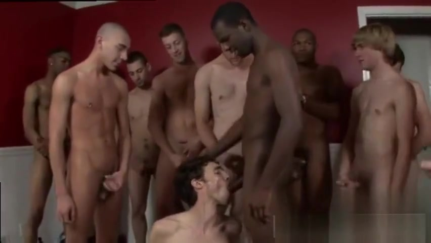Brunette cock sucker works in interracial gangbang Amature hacked nude pictures