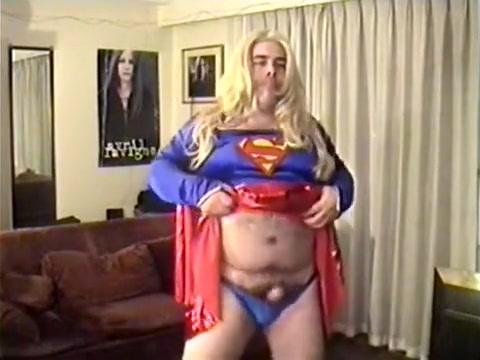 me crossdressing as supergirl Slut in 25 de Mayo